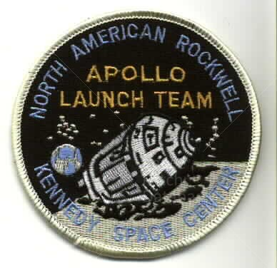 North American/Rockwell Apollo Launch Team | Space Patch ...