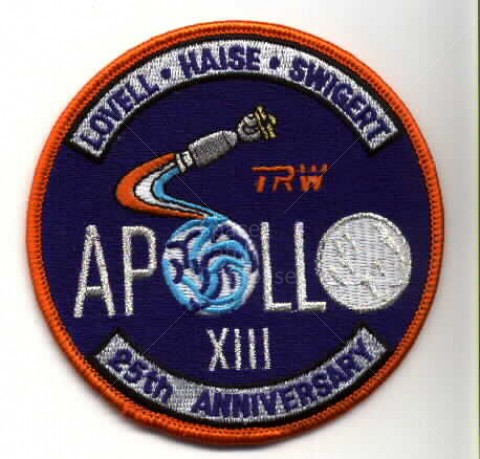 Apollo 13 Patch Apollo 13 25th Anniversary