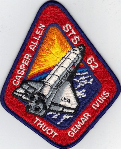 "VINTAGE PATCH NASA Space Shuttle Thuot Hilmers Mullane Casper Creighton 3/"""
