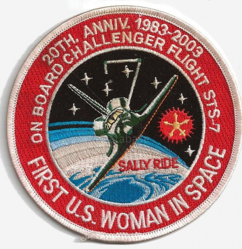 sally ride nasa name patch - photo #2